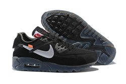 Men Off White x NikeLab Air Max 90 Black AAA ...