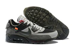 Men Off White x NikeLab Air Max 90 Black AAA 312