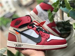 Men Off White x Air Jordan 1 Chicago