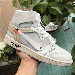 Men Off White x Air Jordan 1 White