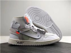 Men Basketball Shoe Off-White x Air Jordan 1 ...