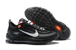 Men Off White x Air Max 97 Running Shoes AAA 328