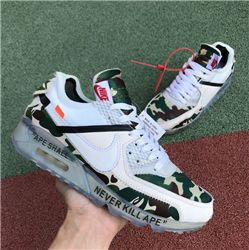 Men Off White x Nike Air Max 90 Running Shoe AAAA 352