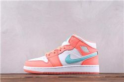 Women Air Jordan 1 Retro High Crimson Pulse AAAA 327