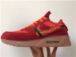 Men Off White x Nike Air Max 90 Running Shoe AAA 357