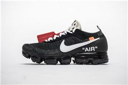 Men OFF WHITE x Nike Air VaporMax 2018 Flyknit Running Shoes AAAAA 207
