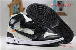 Women Off White x Air Jordan 1 Sneakers AAA 345