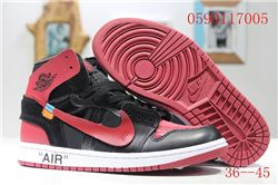 Women Off White x Air Jordan 1 Sneakers AAA 348