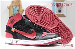 Women Off White x Air Jordan 1 Sneakers AAA 348