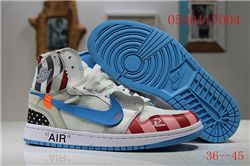 Men Off White x Air Jordan 1 Basketball Shoes AAA 402