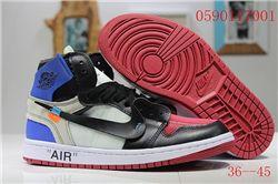 Men Off White x Air Jordan 1 Basketball Shoes AAA 403