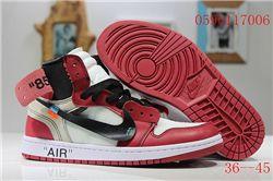 Men Off White x Air Jordan 1 Basketball Shoes AAA 404