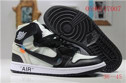 Men Off White x Air Jordan 1 Basketball Shoes AAA 405