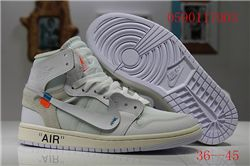 Men Off White x Air Jordan 1 Basketball Shoes AAA 406