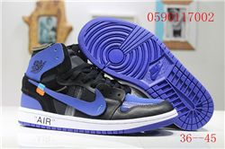 Men Off White x Air Jordan 1 Basketball Shoes AAA 407