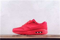 Men Nike Air Max 1 Premium Red Running Shoes ...