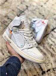 Women Off White x Air Jordan 1 Sneakers AAAA 355