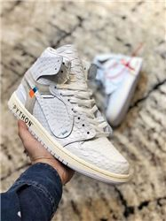 Men Off White x Air Jordan 1 Basketball Shoes...