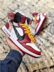 Men Off White x Air Jordan 1 Basketball Shoes AAAA 422