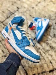 Men Off White x Air Jordan 1 Basketball Shoes AAAA 423