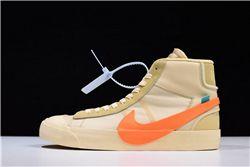 Women Off White x Nike Blazer Mid Sneakers AAAA 359