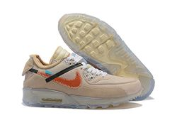 Men Off White x Nike Air Max 90 Running Shoe ...