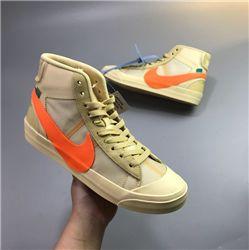Women Off White x Nike Blazer Mid Sneakers AAAAA 366