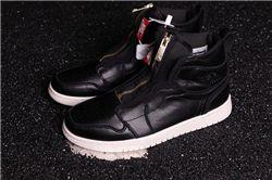Men Air Jordan 1 High Zip Particle Beige Basketball Shoes AAAAA 576