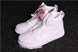Men Air Jordan 1 High Zip Particle Beige Basketball Shoes AAAAA 577