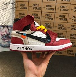 Men Off White x Air Jordan 1 Basketball Shoes AAA 459