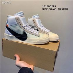 Women Off White x Nike Blazer Mid Sneakers AAA 390
