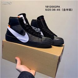 Women Off White x Nike Blazer Mid Sneakers AAA 392