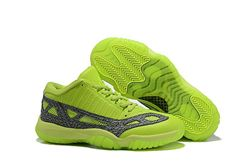 Men Air Jordan 11 Low IE Highlighter Basketball Shoes AAA 458