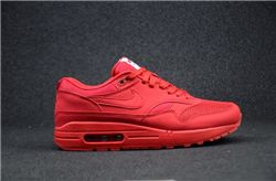 Men Nike Air Max 1 Premium in University Red Running Shoes AAAA 405