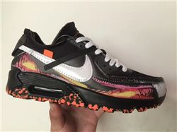 Men Nike Air Max 90 x Off White Running Shoes AAA 498