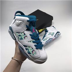 Women Air Jordan VI Retro Green Abyss Sneakers AAAAA 293