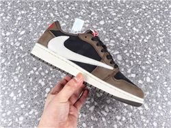 Men Travis Scott x Air Jordan 1 Low Basketbal...