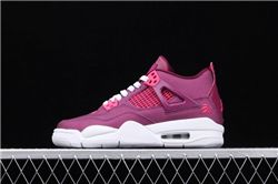 Women Air Jordan 4 GS True Berry Sneakers AAAAA 293