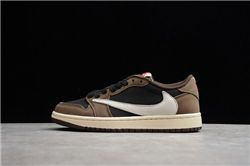 Women Travis Scott x Air Jordan 1 Low Sneaker...