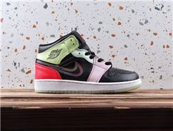 Women Air Jordan 1 Mid Glow in dark Sneakers ...