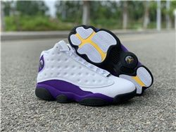 Men Air Jordan 13 Lakers Rivals