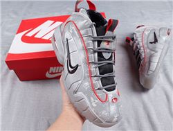 Men Nike Air Max Penny 1 White Metallic Baske...