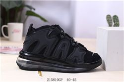 Men Nike Air More Uptempo 720 QS Black Metallic 316