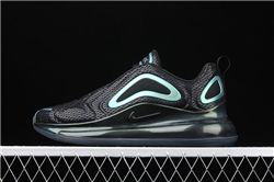 Men Nike Air Max 720 Black Blue Wave Point Running Shoes AAAAA 302
