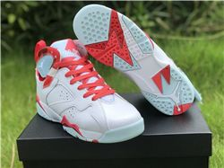 Women Air Jordan 7 Topaz Mist GS Sneakers AAA...