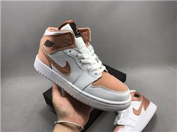 Women Air Jordan 1 Retro Mid Sneaker AAAA 568