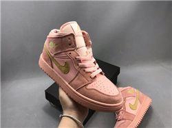 Women Air Jordan 1 Retro Mid Sneaker AAAA 569