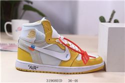 Men Off White x Air Jordan 1 Basketball Shoes AAA 516