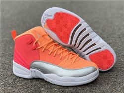 Men Air Jordan 12 GS Hot Punch Basketball Shoes AAAAAA 377
