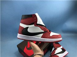 Women Travis Scott x Air Jordan 1 Cuctus Jack Sneaker AAAA 603
